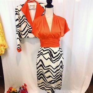 Vintage Mignon dress jacket 2pc custom stripes🦓